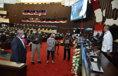 Puan Cek Kesiapan Ruang Pidato Kenegaraan Presiden Jokowi