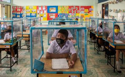 Penampakan Kegiatan Belajar Mengajar di Sekolah saat Pandemi Covid-19