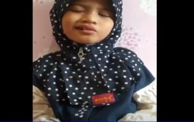 Siswi Tunanetra Asal Gresik Ikut Kompetisi Hafidz Cilik Tingkat Asia