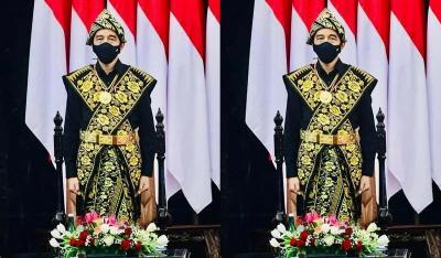 Busana Adat Suku Sabu Presiden Jokowi Ditenun Ibu-Ibu NTT, Bukan Mesin!