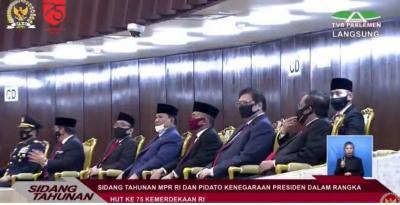 Pejabat Negara Hadiri Sidang Tahunan, dari Para Menteri hingga Panglima TNI