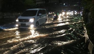 Kali Grogol Meluap, Jalan S. Parman Kebanjiran