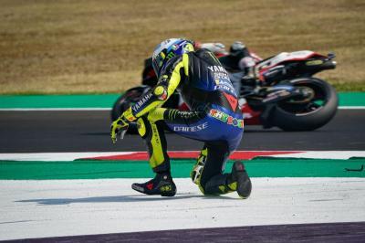Gagal Finis di MotoGP Emilia Romagna 2020, Rossi: Saya Lakukan Kesalahan!