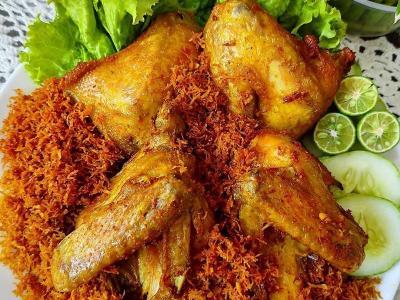 Resep Ayam Goreng Serundeng Manis, Makan Malam Makin Istimewa!
