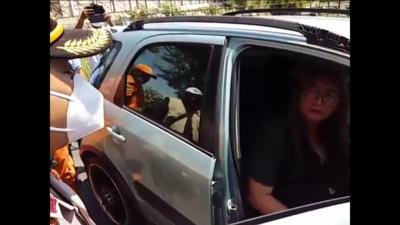 Kepergok Tak Pakai Masker, Pengemudi Mobil Tabrak Petugas Operasi Yustisi