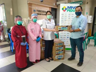 MNC Peduli Salurkan Minuman & Makanan Ringan ke 4 Puskesmas Kecamatan di Jaktim
