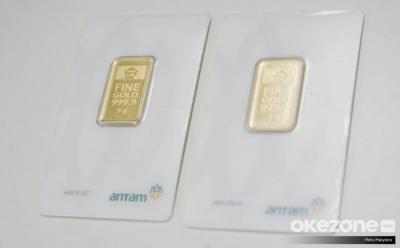 Akhir Pekan, Harga Emas Antam Turun ke Rp1.006.000 Gram