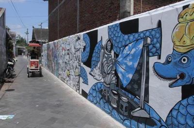 Dihiasi Mural, Taman Sari Yogyakarta Makin Cantik