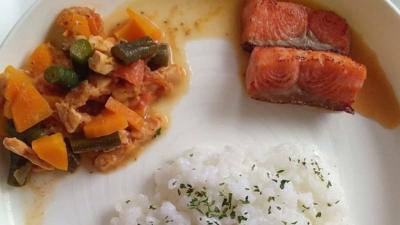 Resep Nasi Tim Salmon Goreng untuk Bayi 10 Bulan