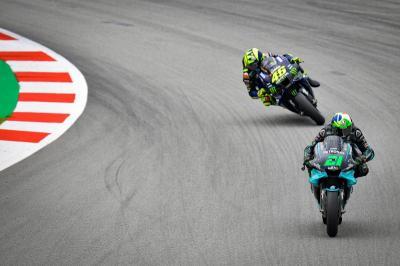 Sayangkan Rossi Gagal Finis di Catalunya, Morbidelli: Dia Hebat dan Sangat Cepat