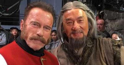"Seru, Jackie Chan dan Arnold Schwarzenegger Duet Pertama Kali di ""Iron Mask"""