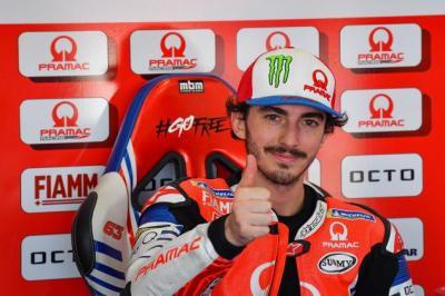 Bagnaia Girang Bisa Lanjutkan Jejak Valentino Rossi di Ducati
