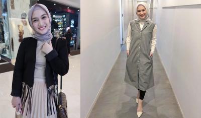 4 Gaya Hijab Semi Formal Melody Laksani Eks JKT48, Simpel dan Cantik!