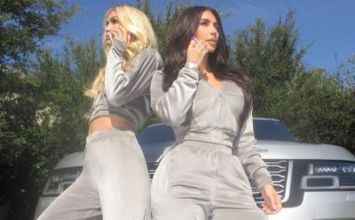 Back to 2000, Kim Kardashian dan Paris Hilton Kembali Populerkan Bahan Velour