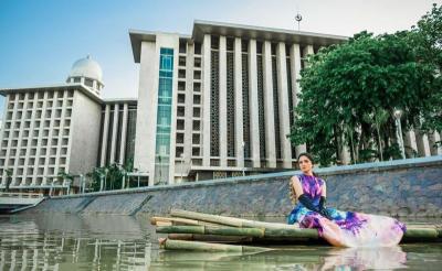 Serunya Tissa Biani Jelajah Sungai Ciliwung, Intip Fotonya