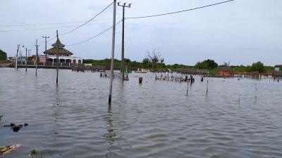 4 Hari Banjir Rob Rendam Muara Gembong Bekasi