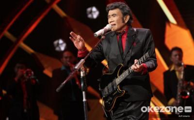 Manggung Tanpa Penonton, Rhoma Irama Tetap Semangat Ramaikan HUT MNCTV Ke-29