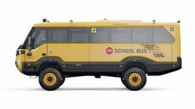 Bus Sekolah Ini bak Monster yang Siap Perang
