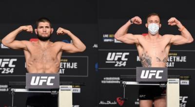 Jadwal Khabib Nurmagomedov vs Justin Gaethje di UFC 254