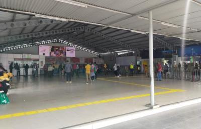 Stasiun Bogor Lengang di Hari Pertama Perpanjangan PSBB Transisi DKI