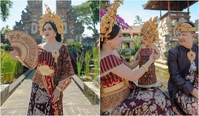 Potret Cantik Shandy Aulia Pakai Songket Bali, Baby Claire Bikin Gemas!