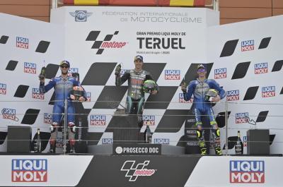 Suzuki Puas Rins dan Mir Kembali Raih Podium di Sirkuit Aragon