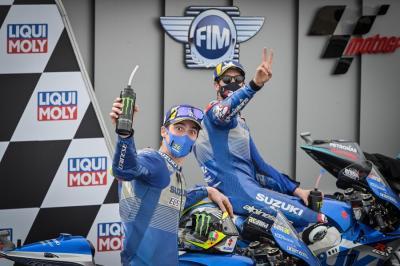 Rins dan Mir Kembali Podium, Suzuki Betekad Lanjutkan Tren Positif