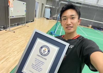 Kento Momota Masuk Buku Rekor Dunia berkat Prestasi Manis pada 2019