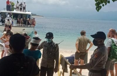 Polisi Periksa Wisatawan yang Hendak Masuk ke Gili Matra, Lombok Utara