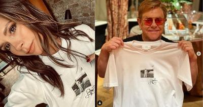 Hari AIDS Sedunia, Victoria Beckham Luncurkan Kaos Putih Rp1,9 Jutaan