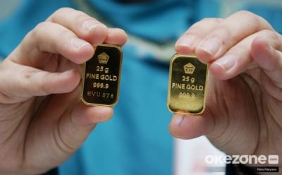 Harga Emas Antam Turun Tajam, Paling Murah Rp530.500