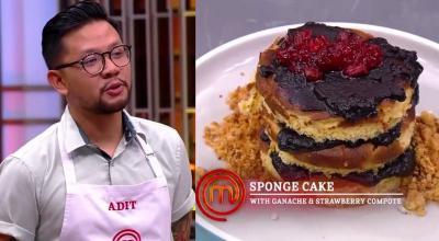 MasterChef Indonesia: Gagal Buat Ganache, Sponge Cake Adit Disebut Salah Konsep