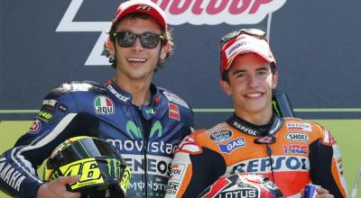 Valentino Rossi dan Marc Marquez Sama-Sama Gila soal Balapan