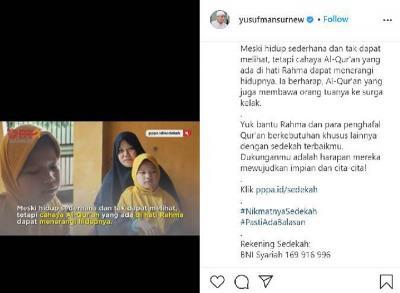 Meski Tunanetra, Bocah 9 Tahun Ini Mampu Menghafal 5 Juz Al-Quran