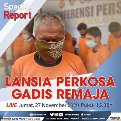 """Special Report"" iNews Jumat Pukul 15.30: Lansia Perkosa Gadis Remaja"