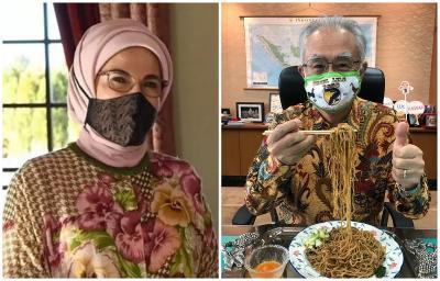 Istri Erdogan Pakai Masker Batik Tulis hingga Masker Spanduk Pecel Lele Bikin Heboh