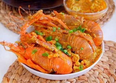 """Yuk Masak Lobster Saus Padang, Lezat dan Rasanya """"Nendang"""""""