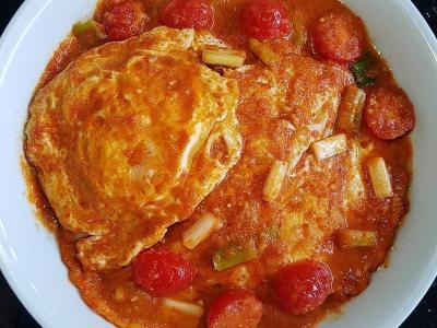 Telur Ceplok Bumbu Rujak, Hidangan Spesial untuk Santap Siang