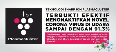 Pertama di Dunia, Teknologi Plasmacluster Menunjukkan Efektivitas Menurunkan Risiko Penularan Corona Virus Melalui Udara