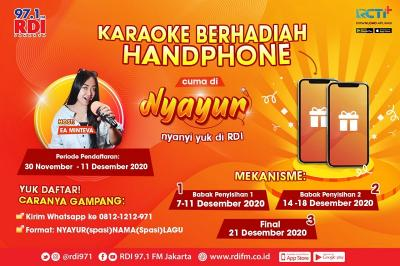 Karaoke Berhadiah Smartphone di Radio RDI Senin-Jumat Jam 12.00? Yuk, Daftar Nyayur!