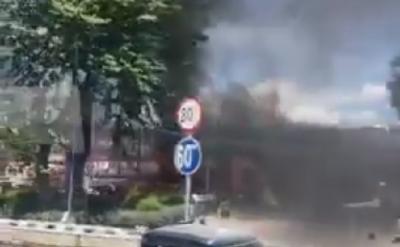 SPBU di Jalan MT Haryono Kebakaran dan Sempat Terdengar Ledakan