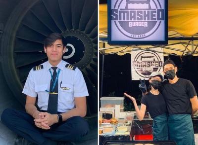 Viral Pilot Ganteng Korban PHK Jualan Burger Bareng Istri, Awalnya Belajar dari YouTube