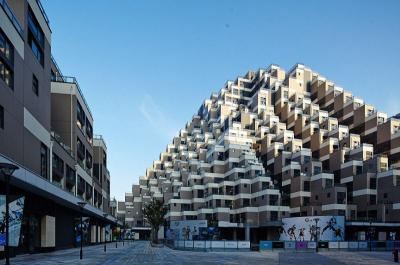 Viral, Apartemen di China Ini Dibuat Mirip Piramida