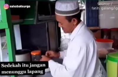 Viral Sedekah Ratusan Porsi, Pedagang Mi Ayam: Bersedekah Jangan Menunggu Kaya