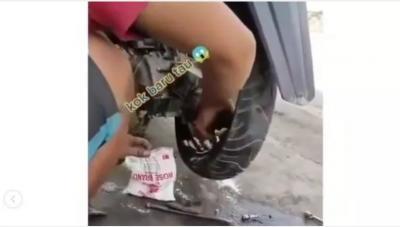Viral! Tambal Ban Tubles Pake Tepung Tapioka, Kok Bisa?