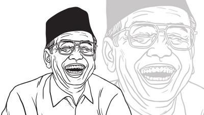 Humor Gus Dur: Orang Indonesia dan China yang Pertama ke Bulan