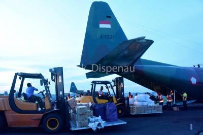 TNI AU Kerahkan Alutsista Bantu Korban Banjir Kalsel