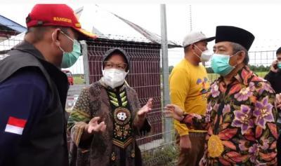 Tinjau Majene, Risma: Dapur Umum untuk Korban Gempa Sudah Dibuat