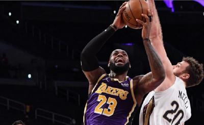 Hasil NBA 2020-2021 Hari Ini: LA Lakers Tumbangkan Pelicans