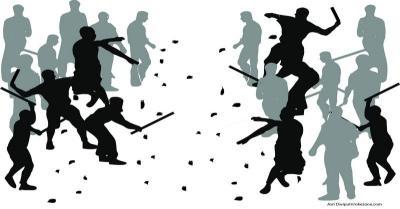 Kelompok Remaja Terlibat Tawuran di Manggarai